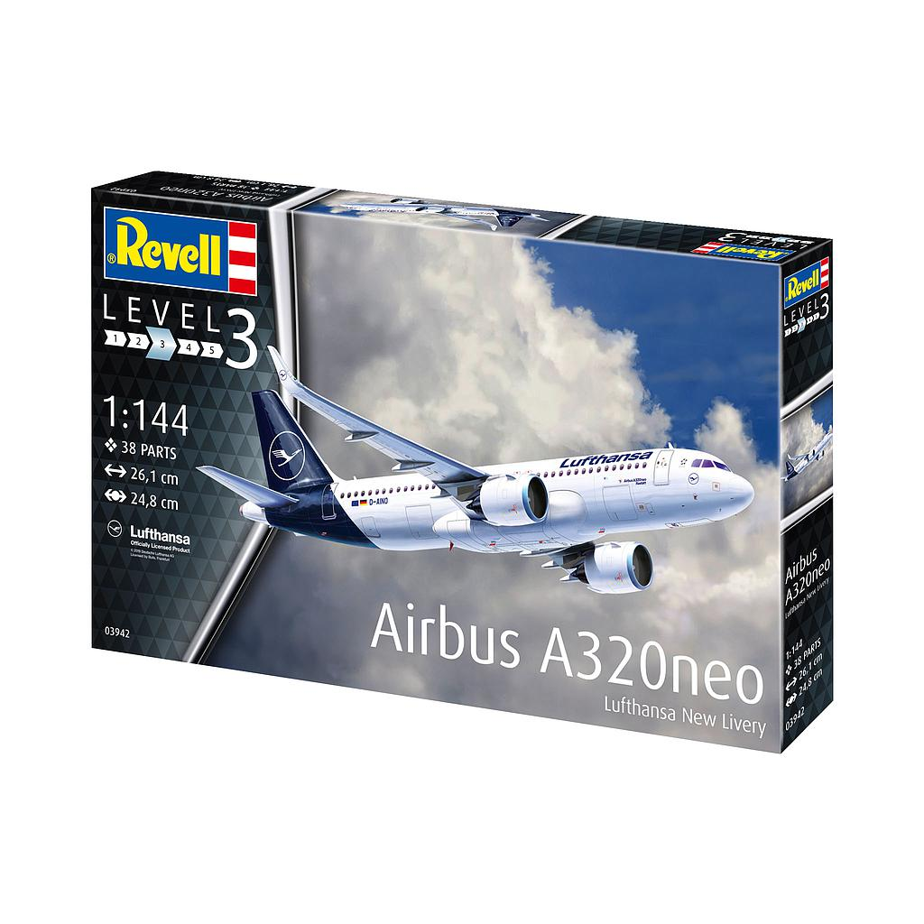 """Revell Airbus A320 Neo Lufthansa """"New Livery""""  1:144"""