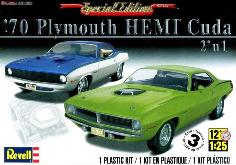 Revell liimitav mudel 1970 Plymouth Hemi Cuda 2n1 1:25