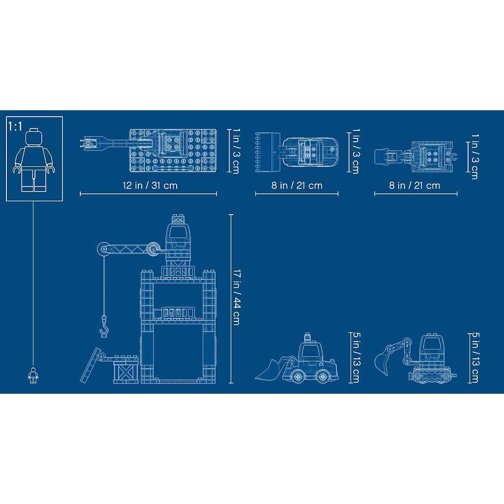 LEGO DUPLO Tornkraana ja ehitus