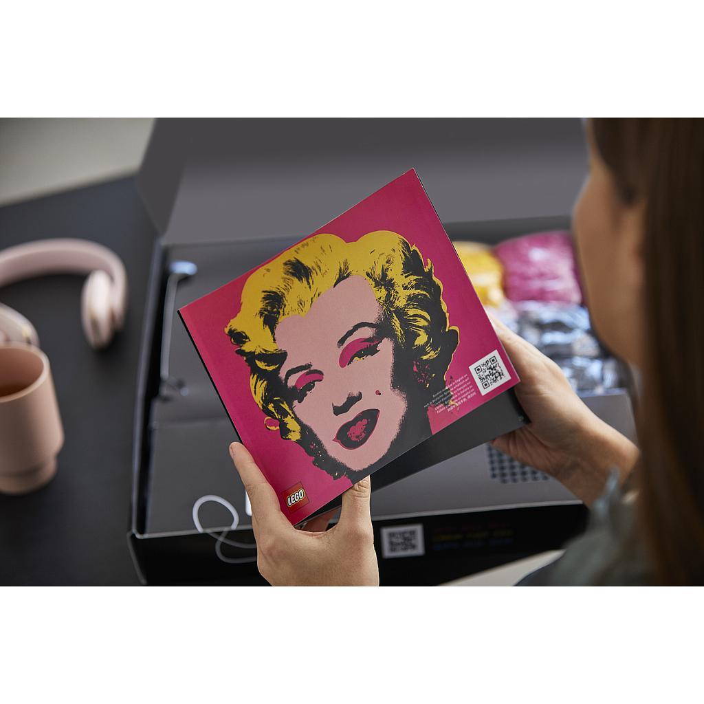 LEGO ART Andy Warholś Marilyn Monroe