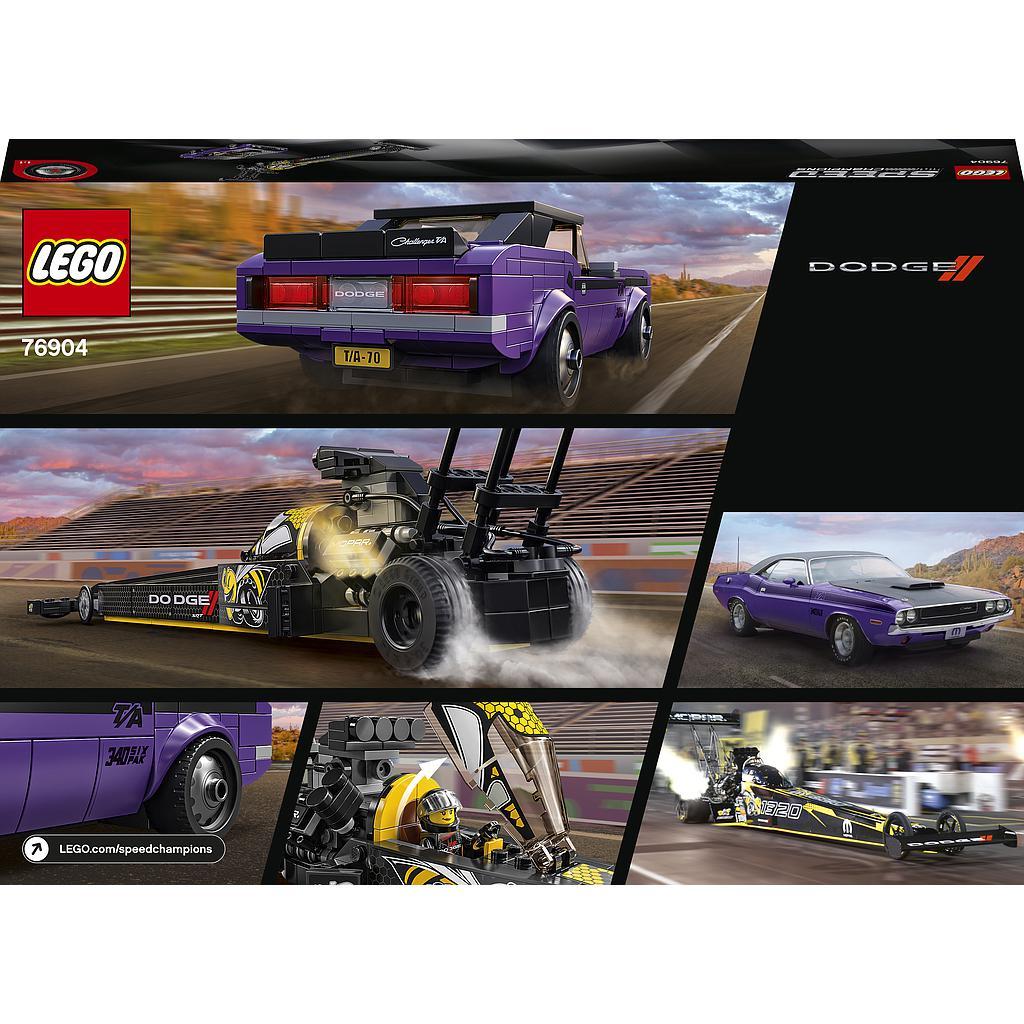 LEGO Speed Champions Mopar Dodge//SRT Top Fuel Dragster ja 1970. a Dodge Challenger