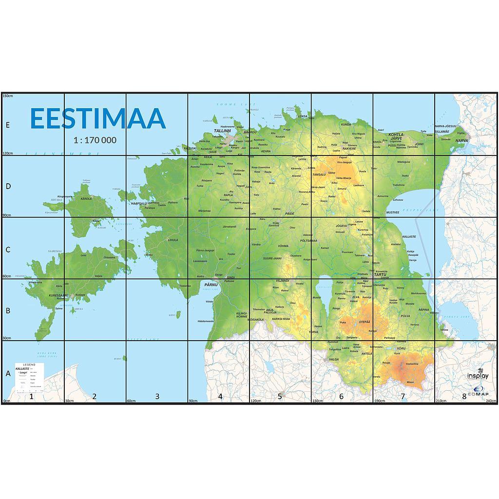 Dash roboti Eesti kaardiga matt