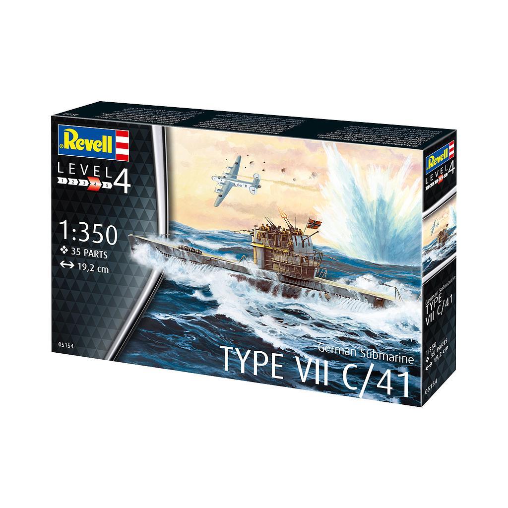 Revell German Submarine Type VII C/41 1:350