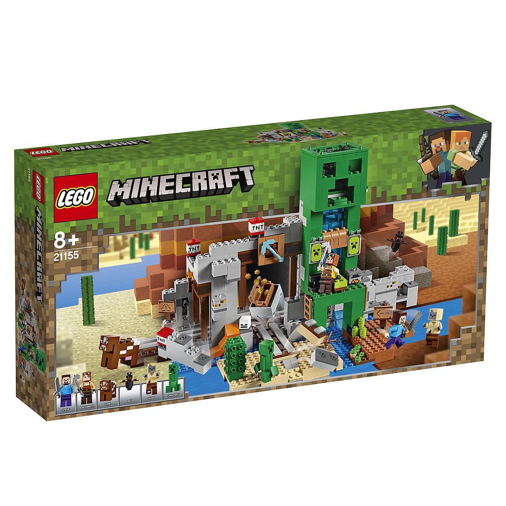 LEGO Minecraft Creeper-i kaeva..