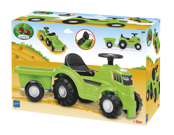 Ecoiffier traktor j&..