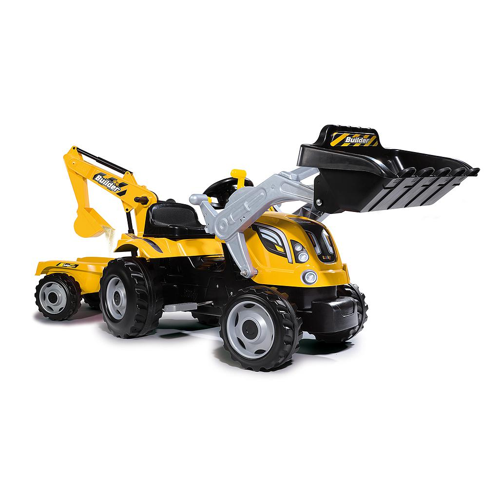 Smoby traktor Builder MAX+käru