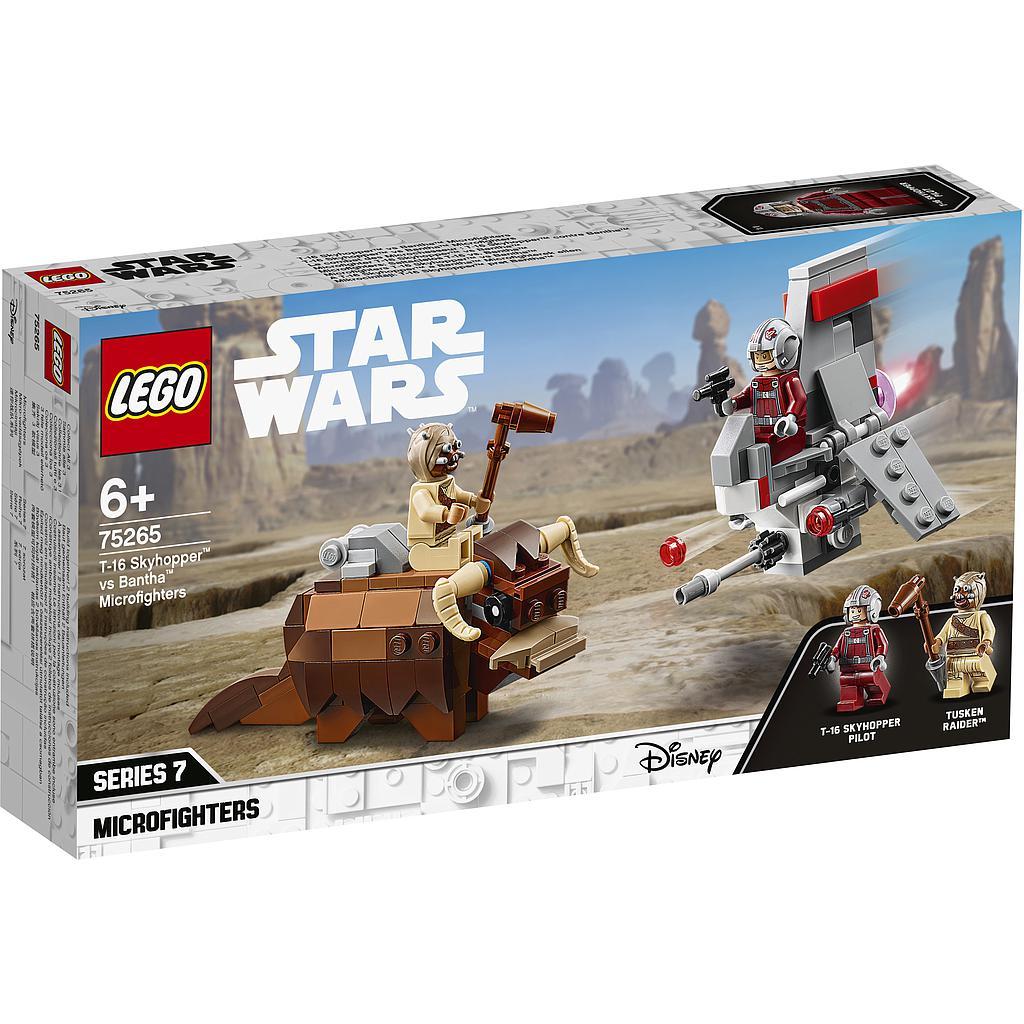 LEGO Star Wars T-16 Skyhopper vs bantha mikrov&oti..