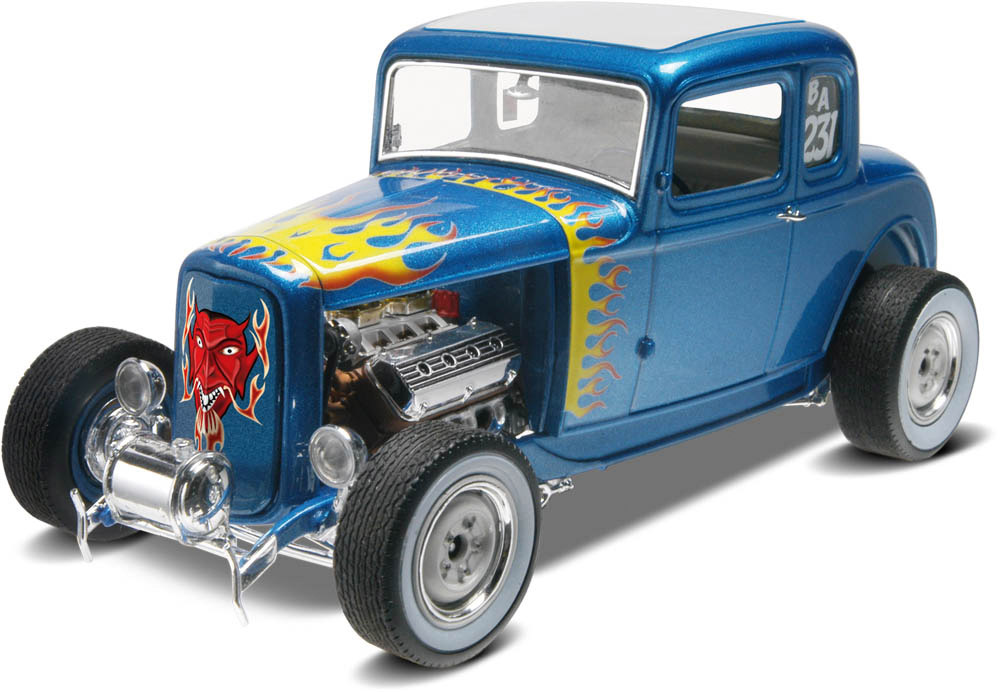 Revell 1932 Ford 5 Window Coupe 2n1 1:25