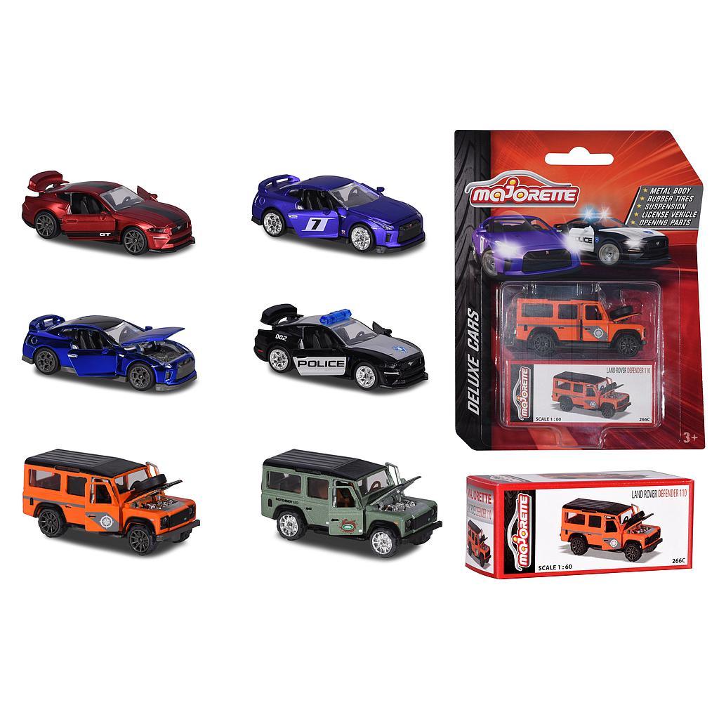 Majorette Deluxe cars mudelaut..