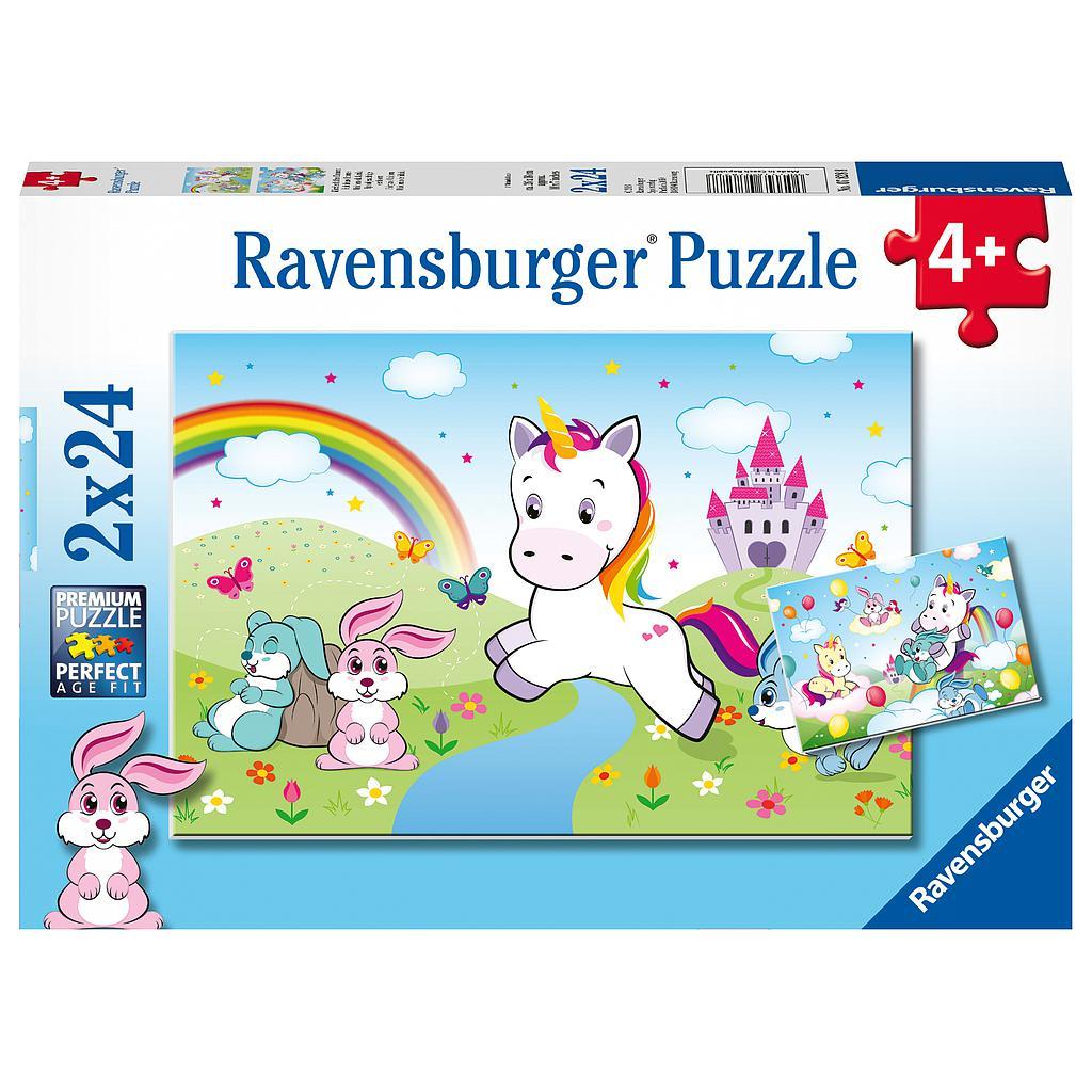 Ravensburger pusle 2x24 tk Ükssarvik