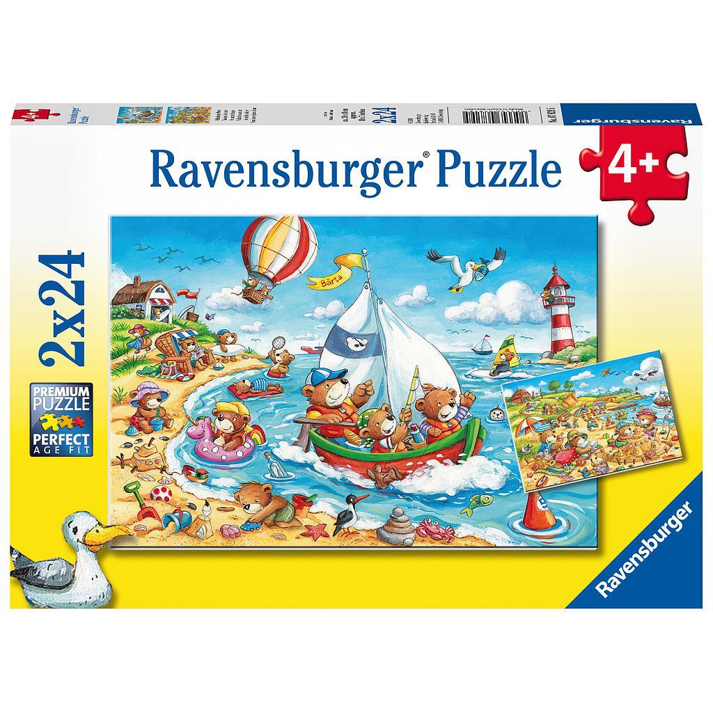 Ravensburger pusle 2x24 tk Puhkus mere ääres