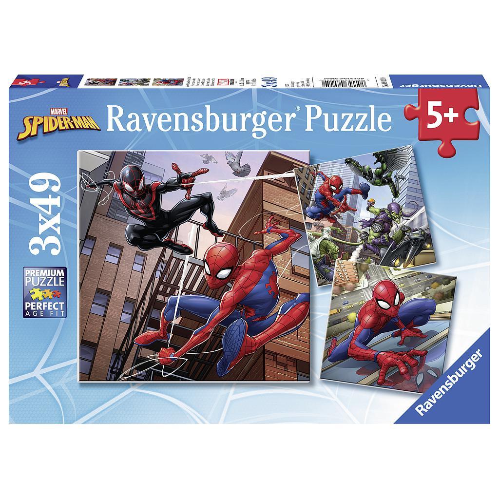 Ravensburger pusle 3x49 tk Spiderman