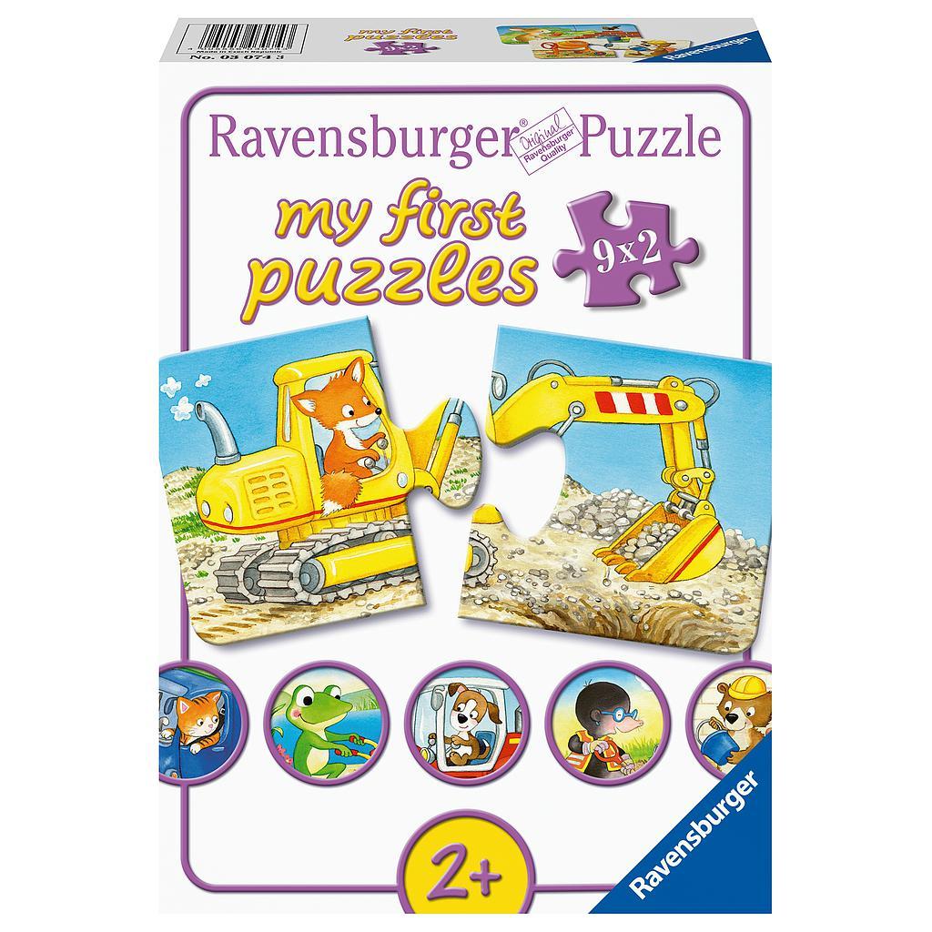 Ravensburger väikelaste pusle 2x9