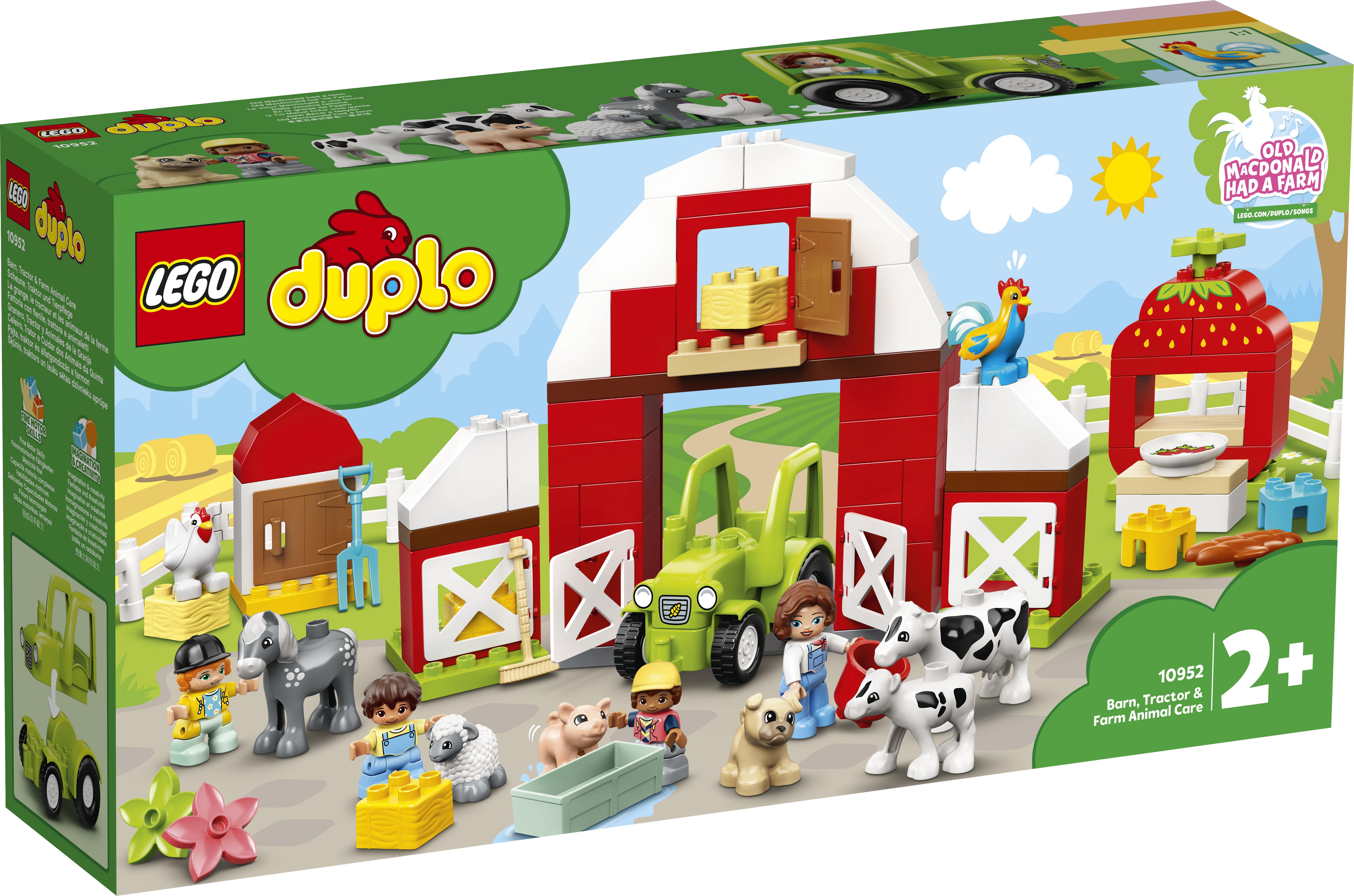 LEGO DUPLO küün, traktor ja taluloomade turvakodu 10952