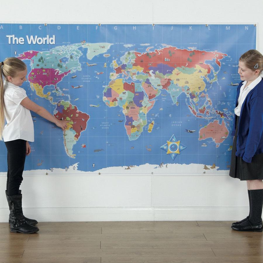 TTS Bee-Bot®-i maailmakaart - Suur