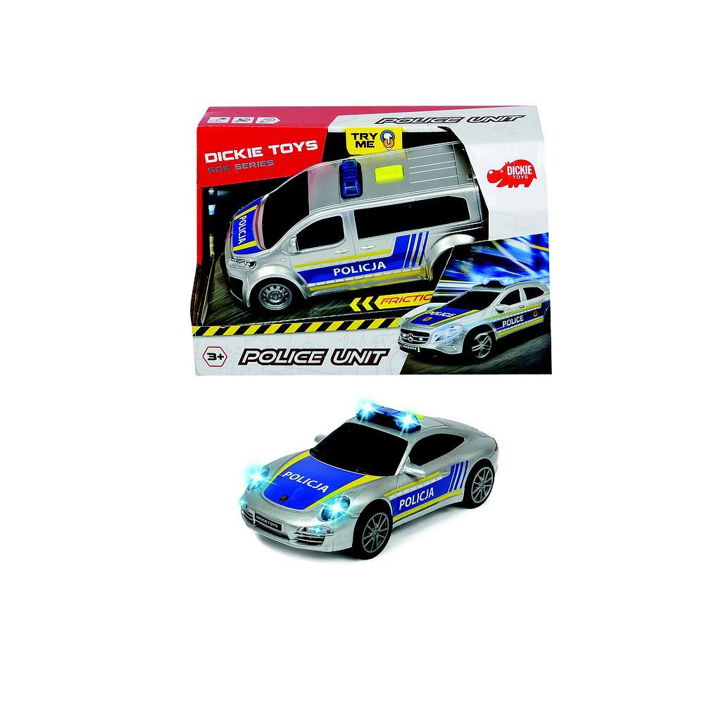 Dickie Toys  politseiüksus 2 erinevat