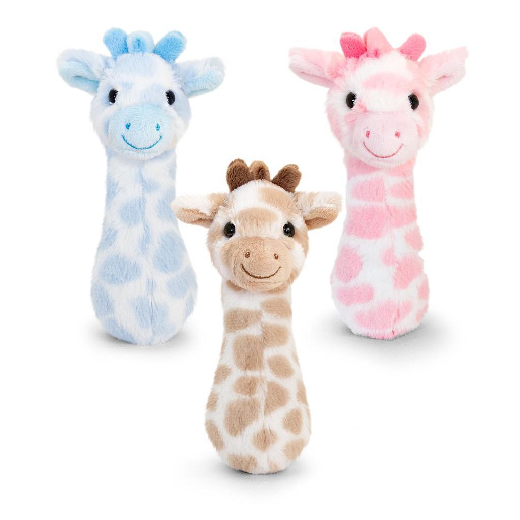 Keel Toys pehme beebikõristi kaelkirjak 3 erinev..