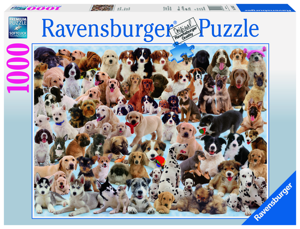 Ravensburger Puzzle 1000 pc Dogs Galore!
