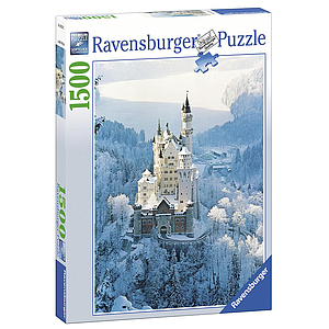 Ravensburger Puzzle 1500 pc Neuschwanstein Castle in Winter