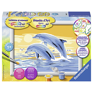 Ravensburger Paint by Numbers- Dolphins