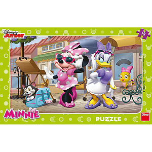 Dino Frame Puzzle 15 pc small, Disney Junior Minnie