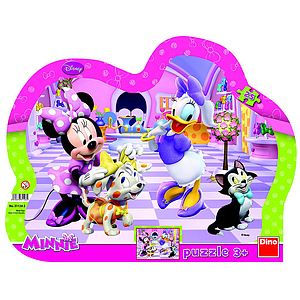 Dino Frame Puzzle silhouette 25 pc, Disney Minnie
