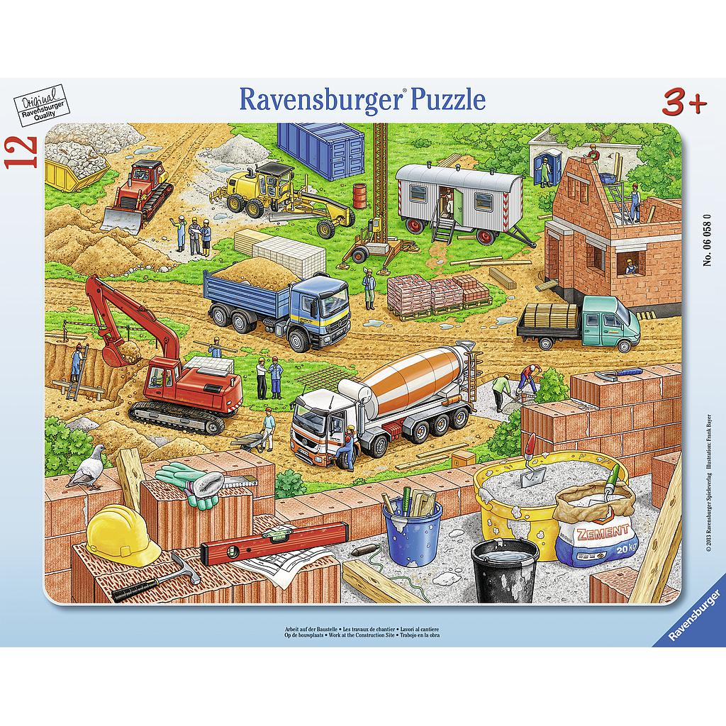 Ravensburger Frame Puzzle 12 pc Work On The Construction Site