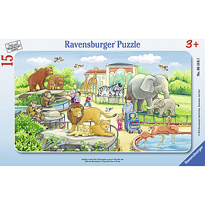 Ravensburger Frame Puzzle 15 pc Trip to the Zoo