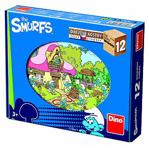 Dino Cube Puzzle 12 pc The Smurfs
