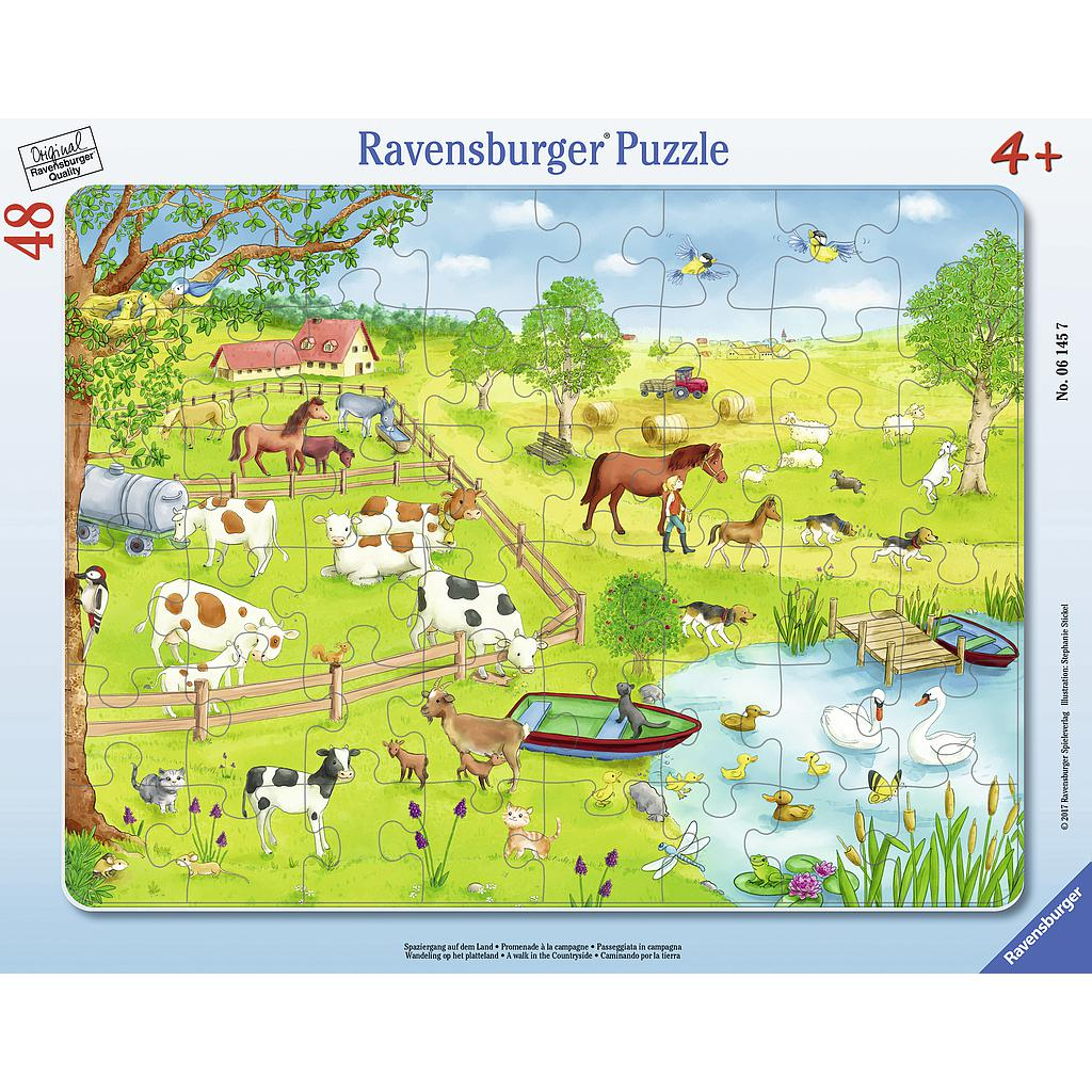 Ravensburger Frame Puzzle 48 pc A walk in the Countryside