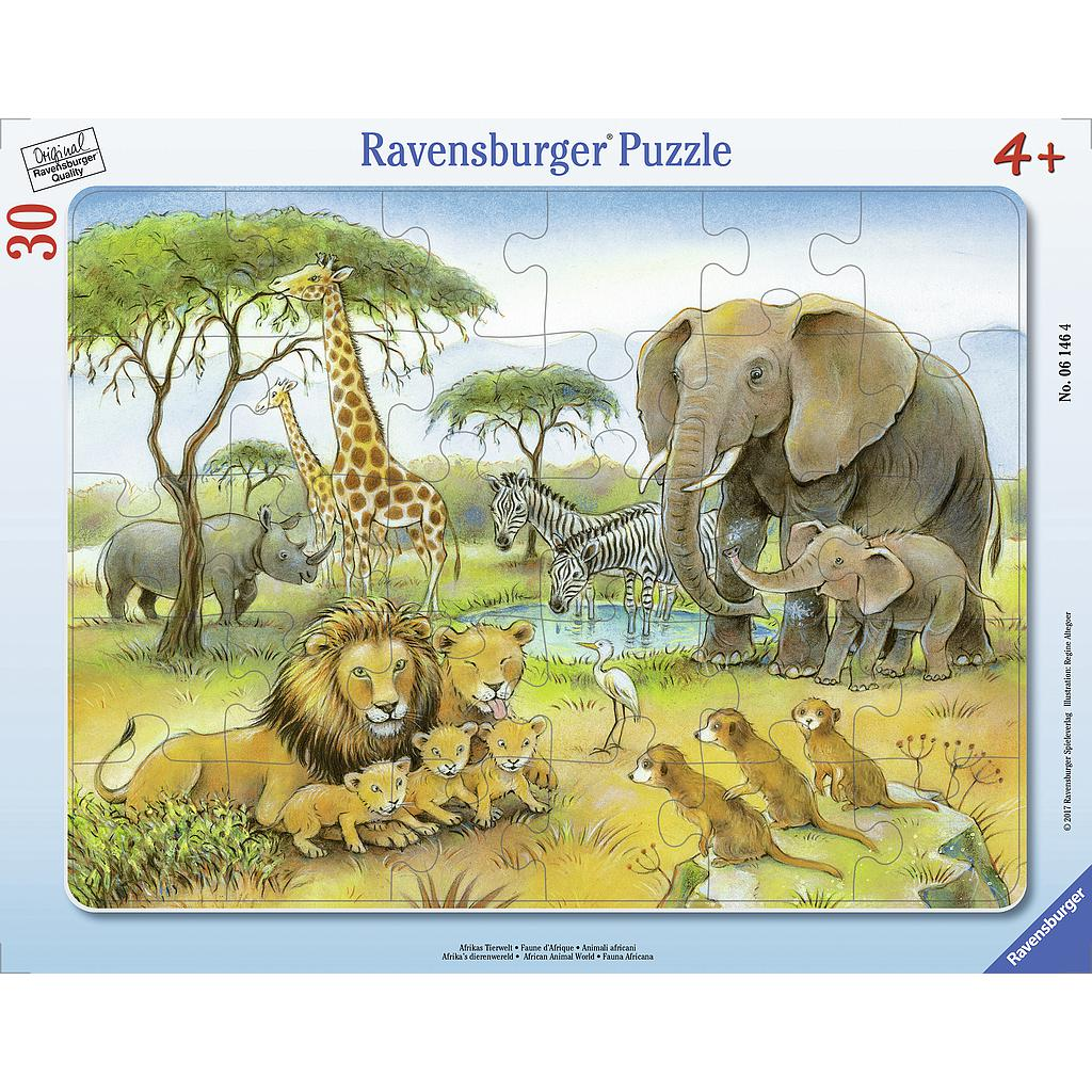 Ravensburger Frame Puzzle 30 pc Africa's Wildlife