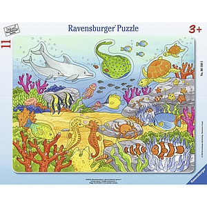 Ravensburger Frame Puzzle 11 pc Happy Sea Dwellers