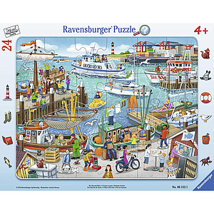 Ravensburger Frame Puzzle 24 pc Day At The Harbour