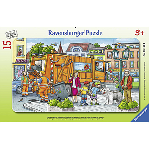 Ravensburger Frame Puzzle 15 pc Garbage Truck