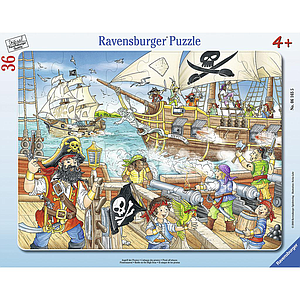 Ravensburger Frame Puzzle 36 pc Attack of Pirates