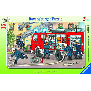 Ravensburger Frame Puzzle 15 pc Fire Truck