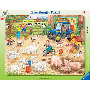 Ravensburger Frame Puzzle 40 pc In a big Farm