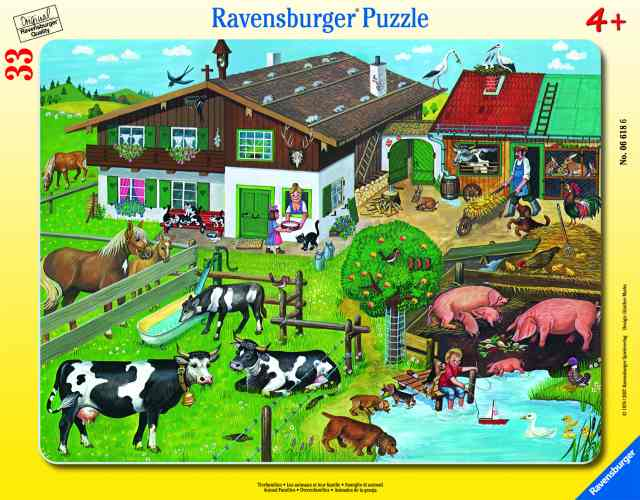 Ravensburger Frame Puzzle 33 pc Animals and their Families