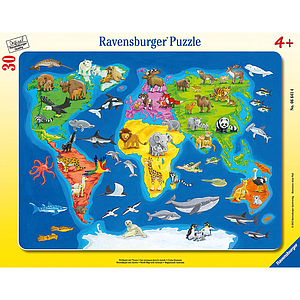 Ravensburger Frame Puzzle 30 pc Animals of the World