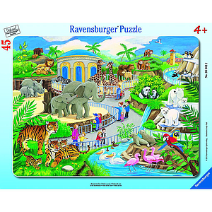 Ravensburger Frame Puzzle 39 pc The Zoo