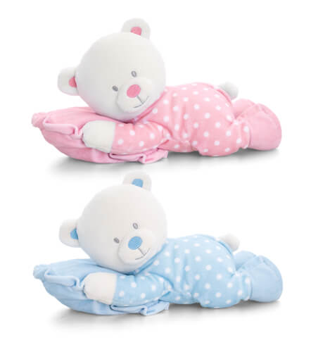 Keel Toys Lying Bear on a Pillow 30 cm