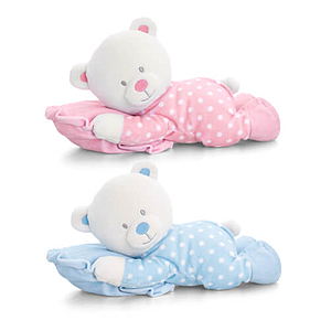 Keel Toys Lying Bear on a Pillow  25 cm