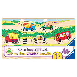 Ravensburger Wooden Puzzle 5 pc Vehicles