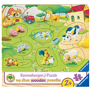 Ravensburger Wooden Puzzle 9 pc Farm