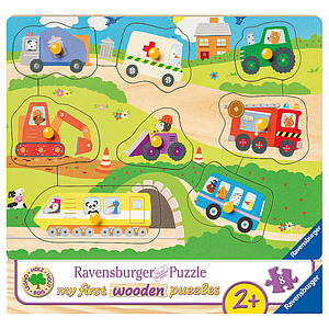 Ravensburger Wooden Puzzle 8 pc Cars