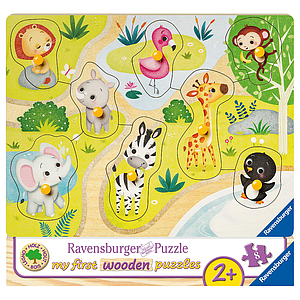 Ravensburger Wooden Puzzle 8 pc The Zoo