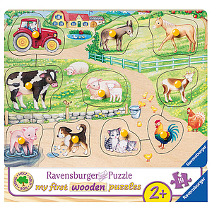 Ravensburger Wooden Puzzle 10 pc Farm