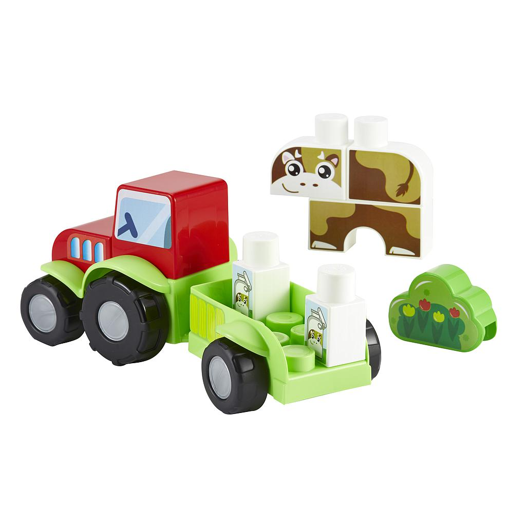 Ecoiffier tractor with blocks
