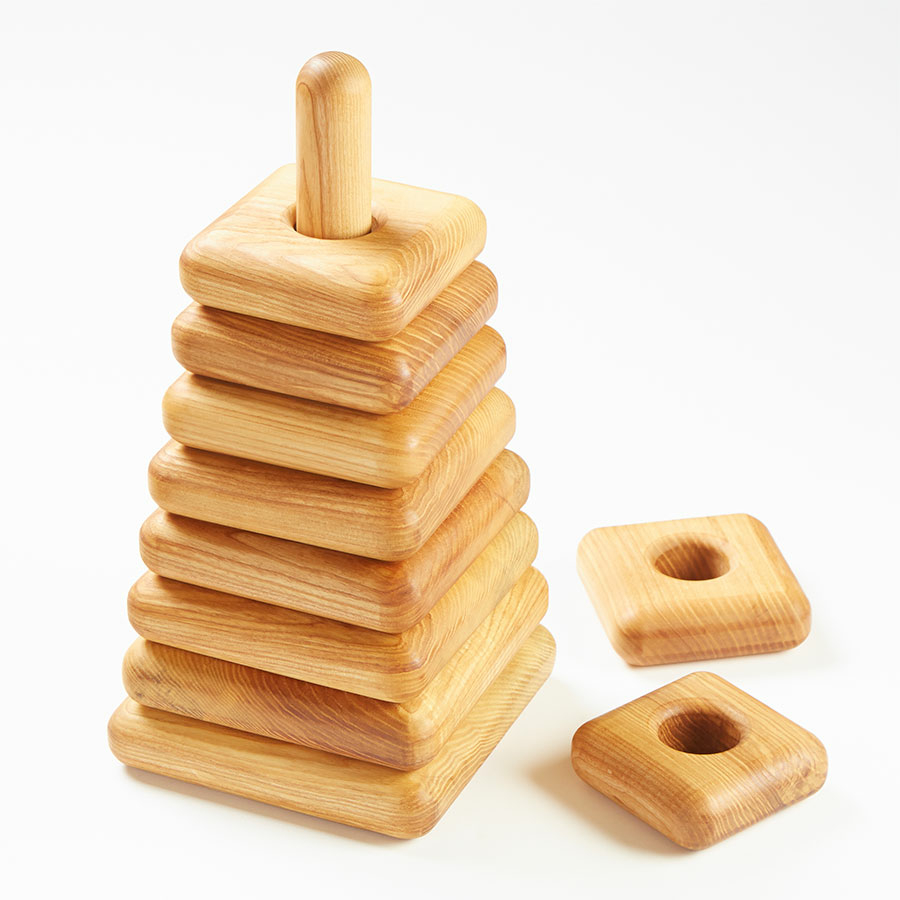 TTS Giant Square Wooden Stacking Pyramid