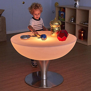TTS Round Light Up Colour Changing Glow Table